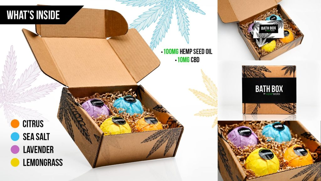 HempWorx CBD Bath Bombs Bath Box