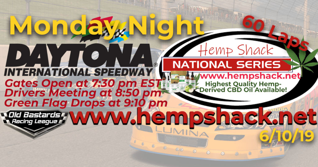 Full Spectrum CBD Oil For Horses Hemp Shack National Series Race at Daytona International Speedway