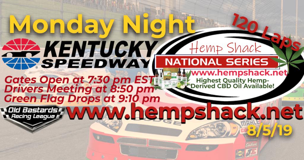 K&N Pro CBD Oil Hemp Shack National Series Race at Kentucky Speedway