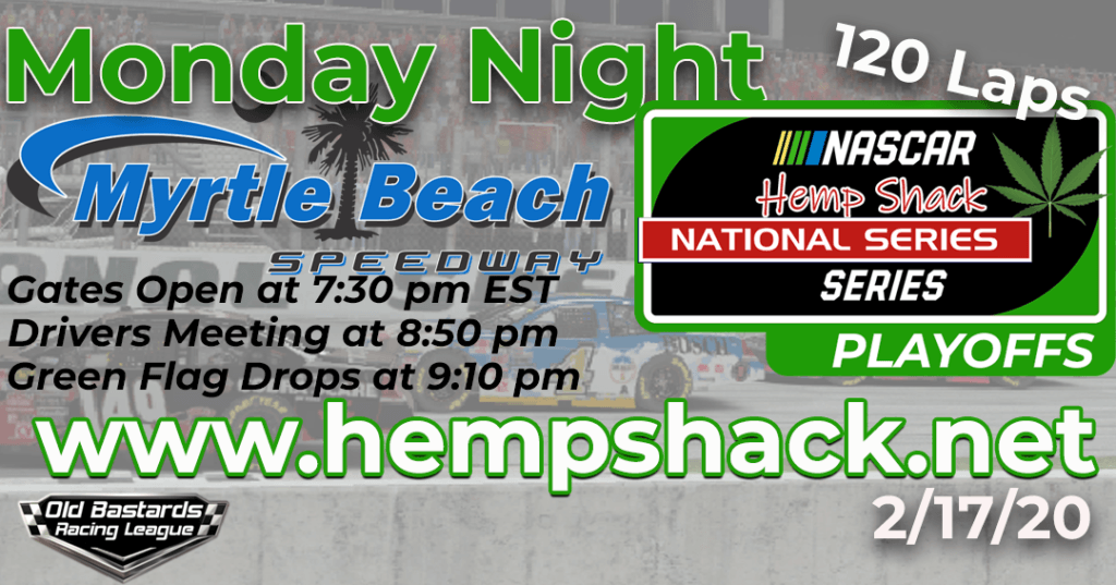 iRacing Hemp Shack 750mg CBD Oil National Series Race at Myrtle Beach Speedway