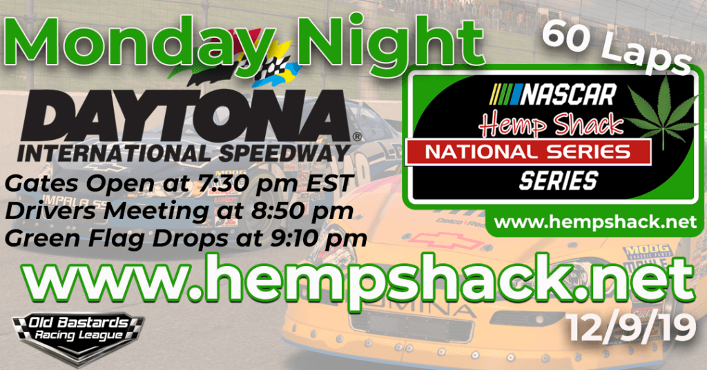 iRacing Hemp Shack Full Spectrum CBD Oil National Series Race at Daytona International Speedway