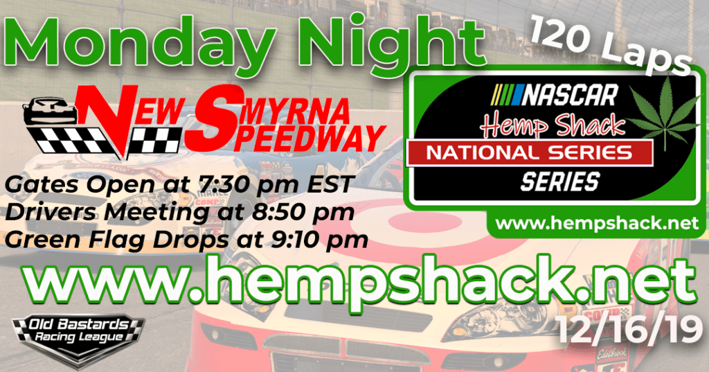 iRacing Hemp Shack CBD Bath Bombs National Series Race at New Smyrna Speedway