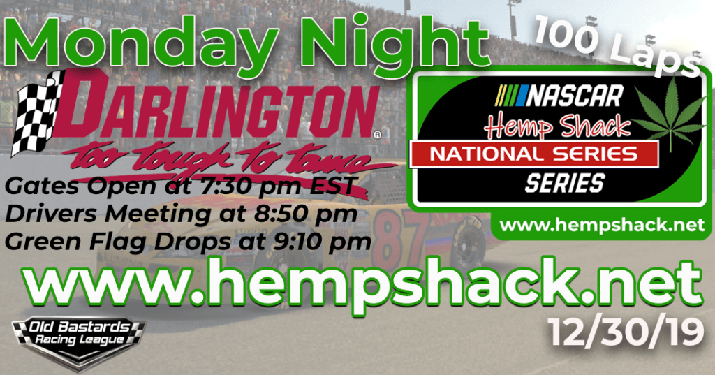 iRacing Hemp Shack CBD Pain Relief Oil National Series Race at Darlington Raceway