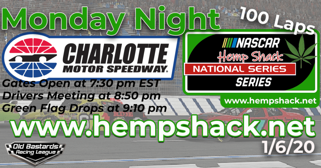 iRacing Hemp Shack Pet CBD Oil National Series Race at Charlotte Motor Speedway