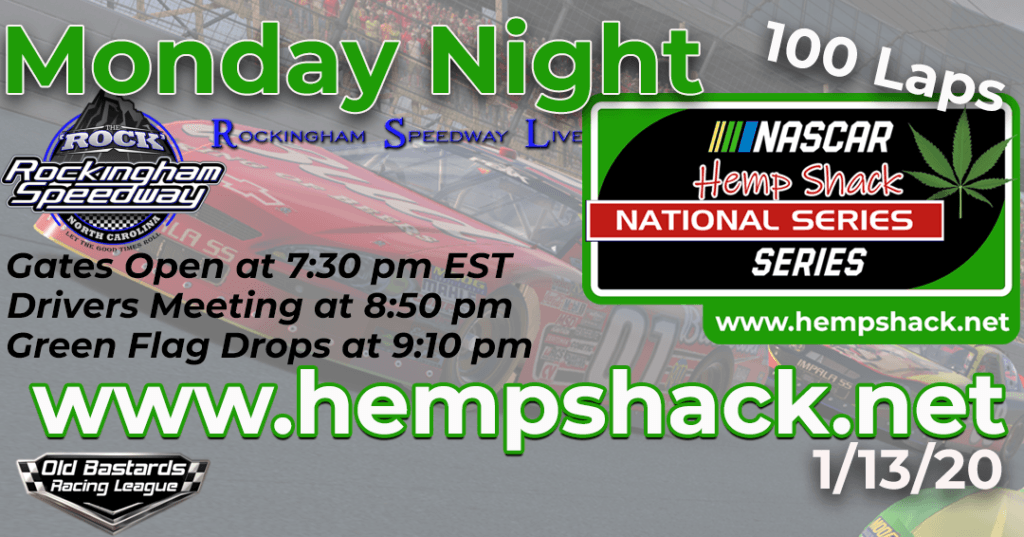 iRacing Hemp Shack 500mg THC FREE CBD Oil National Series Race at Rockingham Speedway