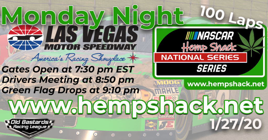 iRacing Hemp Shack THC FREE CBD Oil National Series Race at Las Vegas Motor Speedway