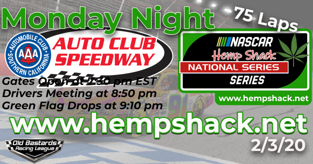 iRacing Hemp Shack 750mg CBD Oil National Series Race at Auto Club Speedway